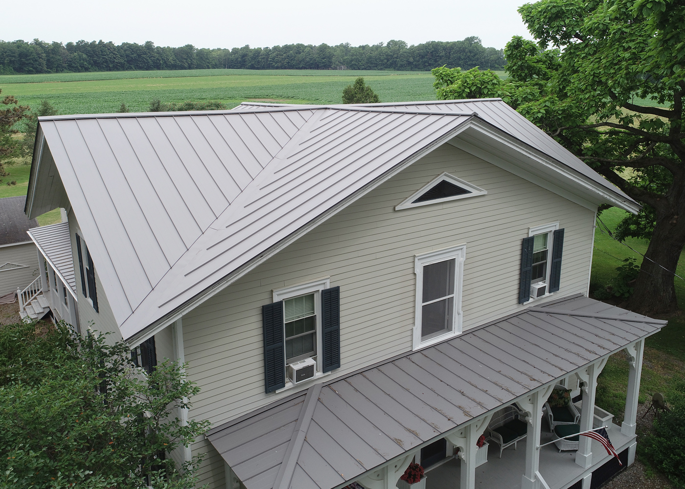 Metal roof cny, Standing seam metal roof, on site metal roof