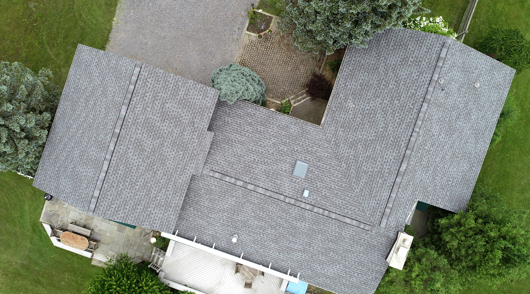 GAF pewter gray shingles, gray roof in syracuse ny, GAF HD Timberline